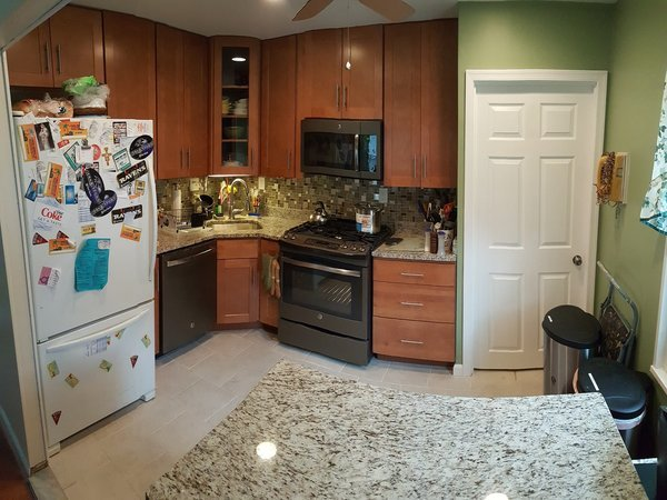 Find out the cost to remodel a small kitchen so it looks like this