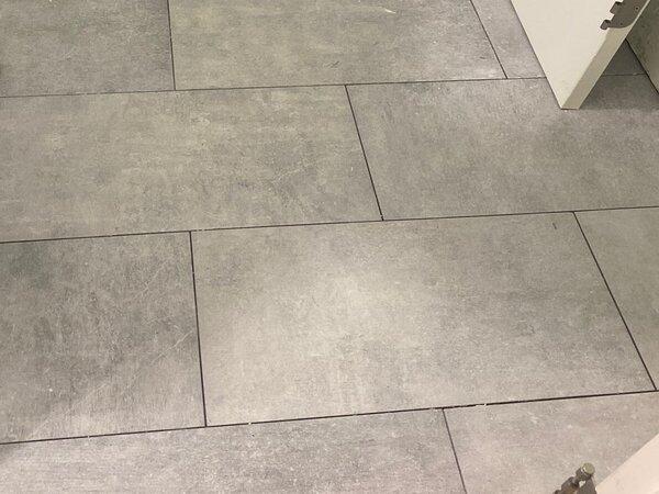 Tile flooring for a bathroom